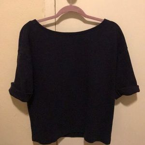 Navy Gap Blouse